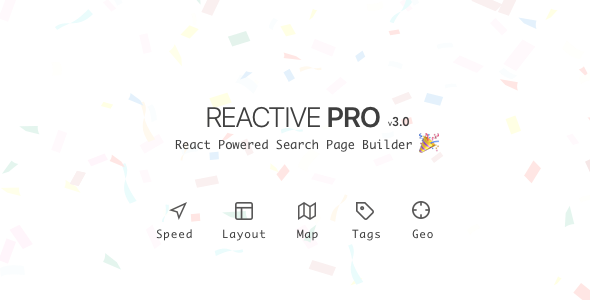 Reactive Pro - React Powered Search Page Builder - CodeCanyon Item for Sale