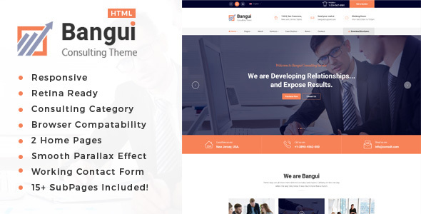 Image of Bangui - Business Consulting and Professional Services HTML Template