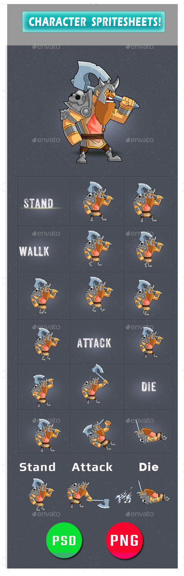 GraphicRiver Enemy Game Assets 20325278