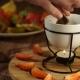 Hands Preparing Chocolate Sauce Fondue - VideoHive Item for Sale