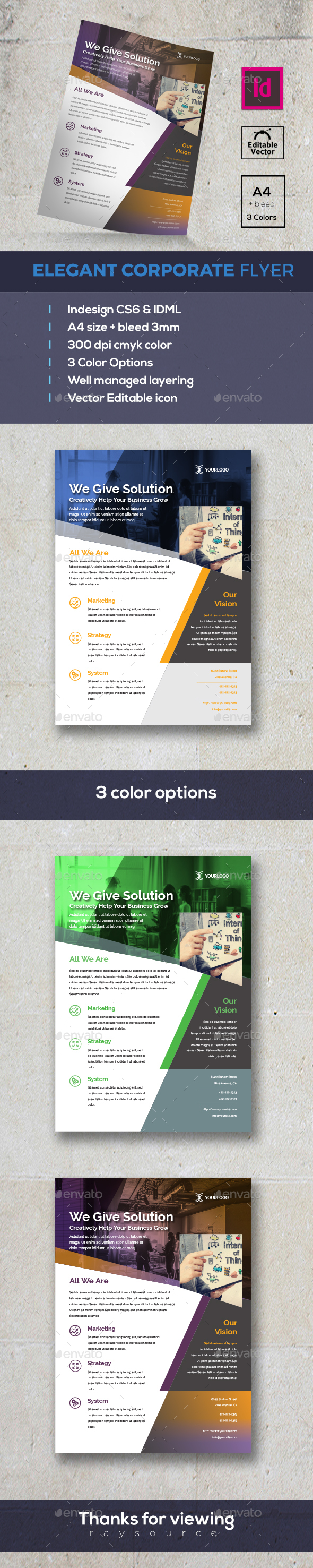 GraphicRiver Modern Business Flyer 20325722