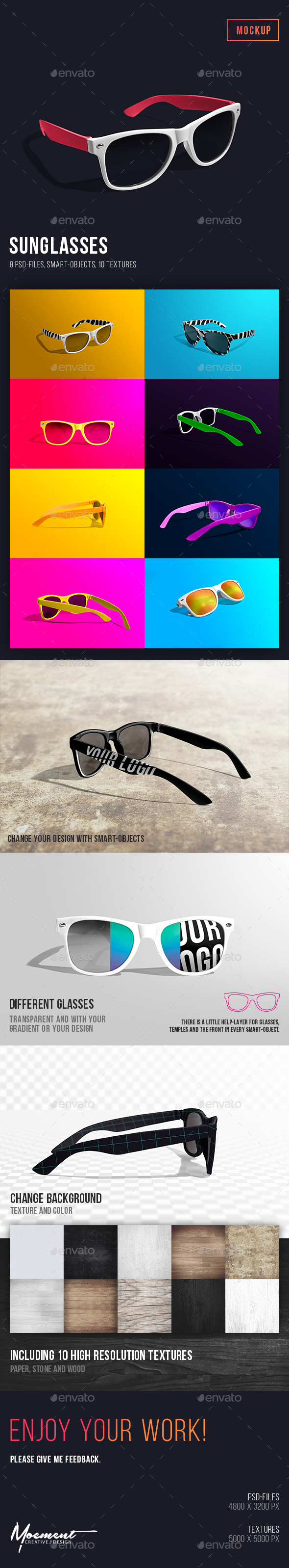 Sunglasses Mockup - Miscellaneous Apparel