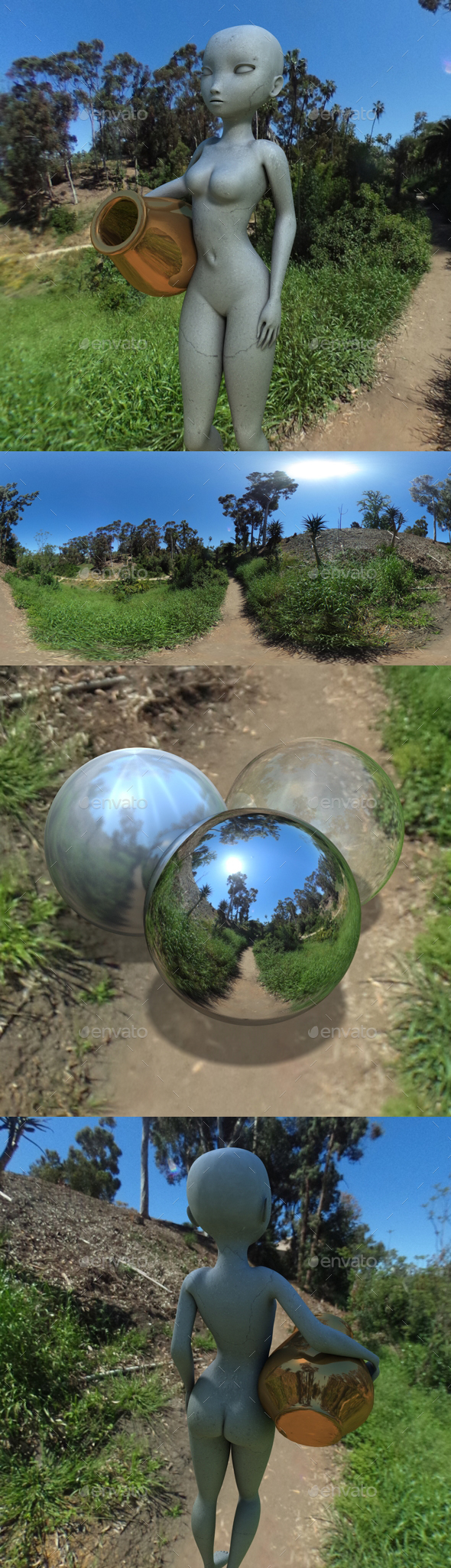Blue Sky Jungle Trail HDRI - 3DOcean Item for Sale