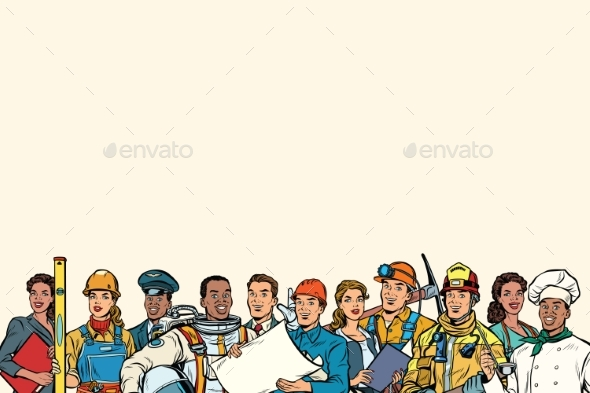 GraphicRiver People of Different Professions 20326193