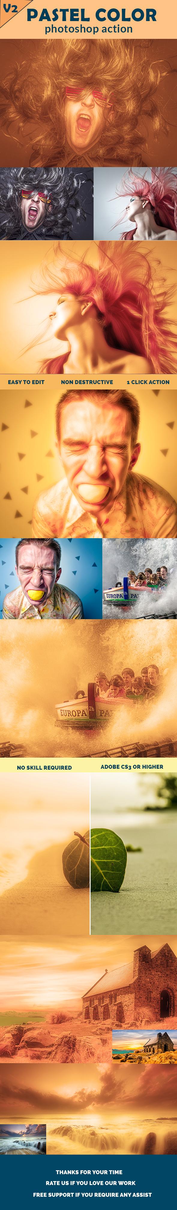 GraphicRiver Pastel Color Photoshop Action Version 02 20326262