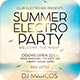 Summer Electro Party Flyer