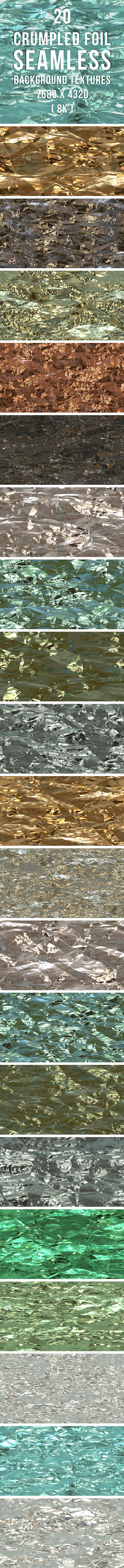 GraphicRiver 20 Crumpled Foil Seamless Background Textures 20326435