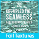 20 Crumpled Foil Seamless Background Textures - GraphicRiver Item for Sale