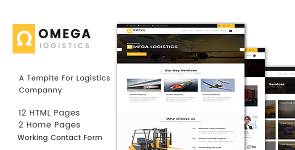 Omega - Logistics  and Transportation  HTML Template