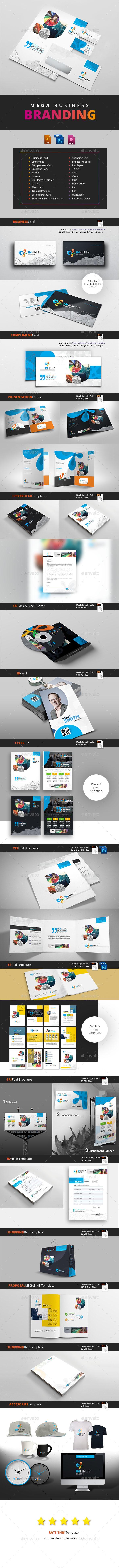 GraphicRiver Creative Branding Mega Stationery 20326536