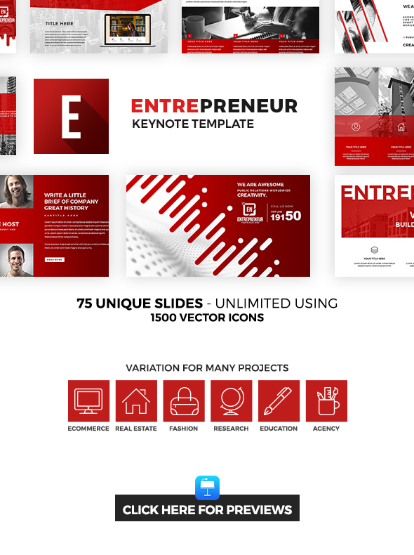 Entrepreneur Keynote Template - Creative Keynote Templates