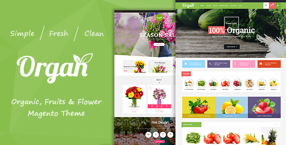 Image of Organ - Organic Store & Flower Shop Responsive Magento Theme