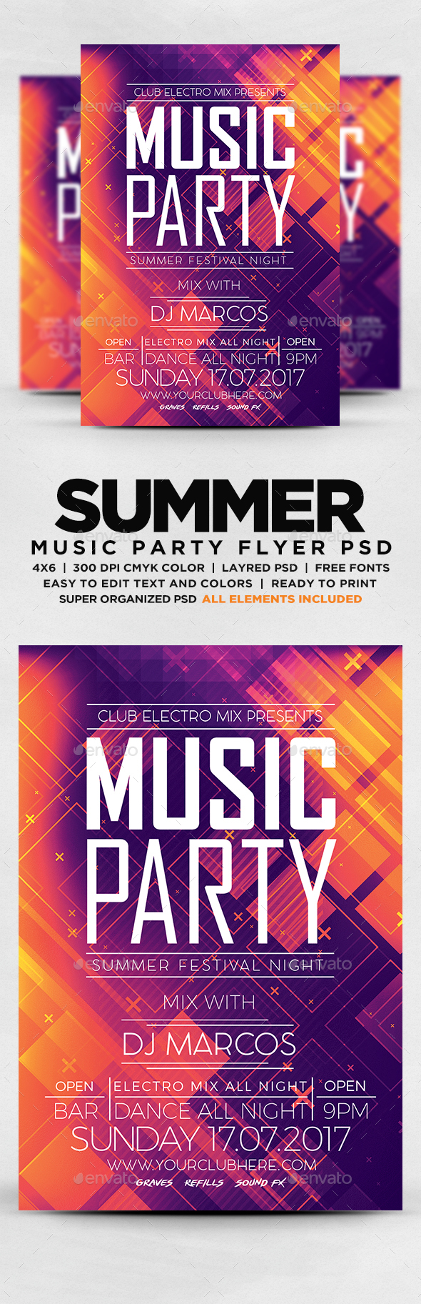 GraphicRiver Music Party Flyer 20326697