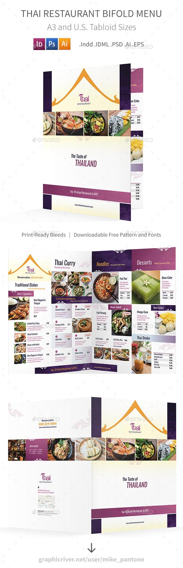 GraphicRiver Thai Restaurant Bifold Halffold Menu 4 20326724