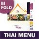 Thai Restaurant Bifold / Halffold Menu 4