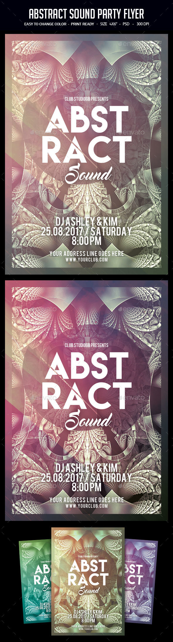 Abstract Sound Party Flyer - Clubs & Parties Events