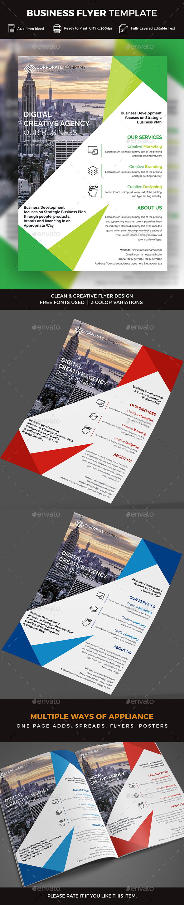 GraphicRiver Business Flyer 20326803