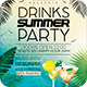 Drinks Summer Party Flyer