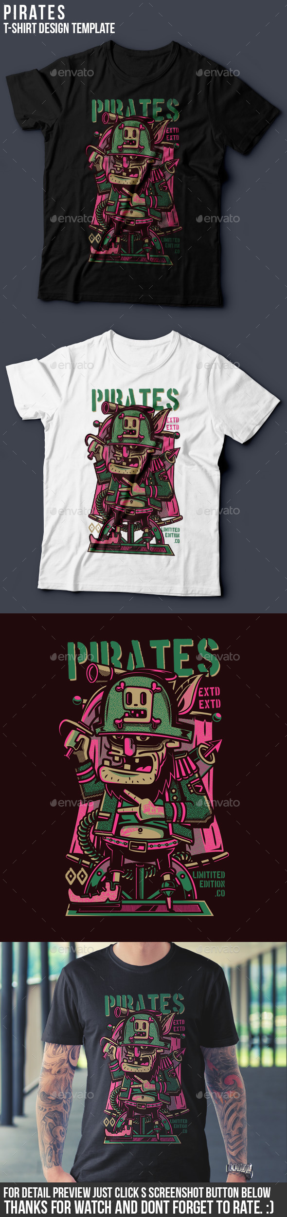 Pirates T-Shirt Design - Funny Designs