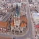 Flight Over Orthodox Church and View of Old Town - VideoHive Item for Sale