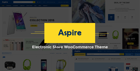 Aspire - Electronic Store WooCommerce WordPress Theme