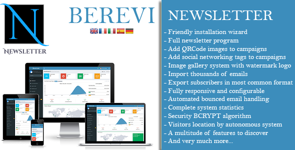 Berevi Newsletter - Email Marketing App - CodeCanyon Item for Sale