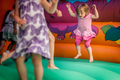 Inside bouncy castle
