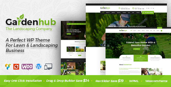 Garden HUB - Gardening, Lawn & Landscaping WordPress Theme - Business Corporate