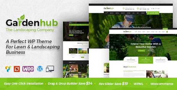 Garden HUB - Gardening, Lawn & Landscaping WordPress Theme