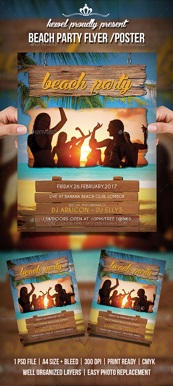 GraphicRiver Beach Party Flyer Poster 20327803