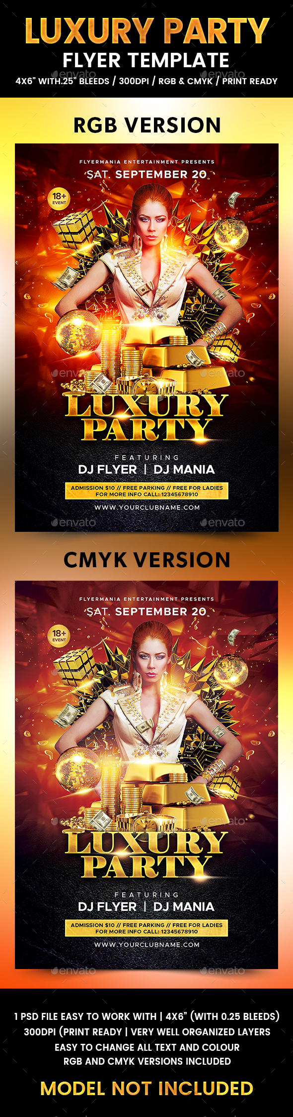 Luxury Party Flyer Template - Flyers Print Templates