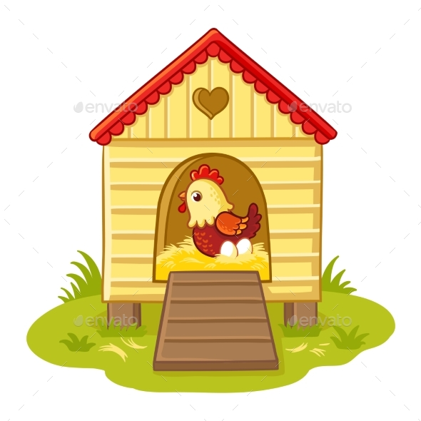 GraphicRiver The Hen Sits in the Henhouse 20327860