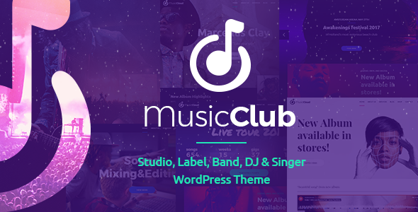 Music Club - Band or Studio WordPress Theme