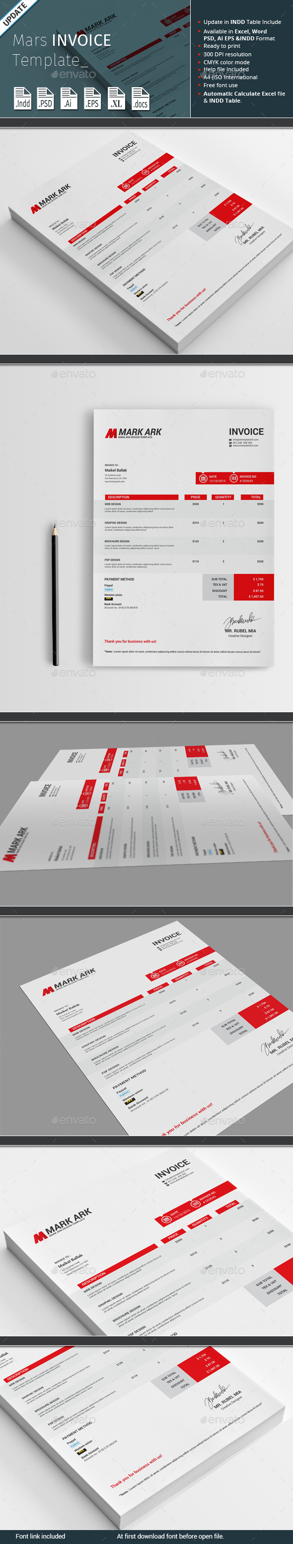 Mars Invoice Template - Proposals & Invoices Stationery
