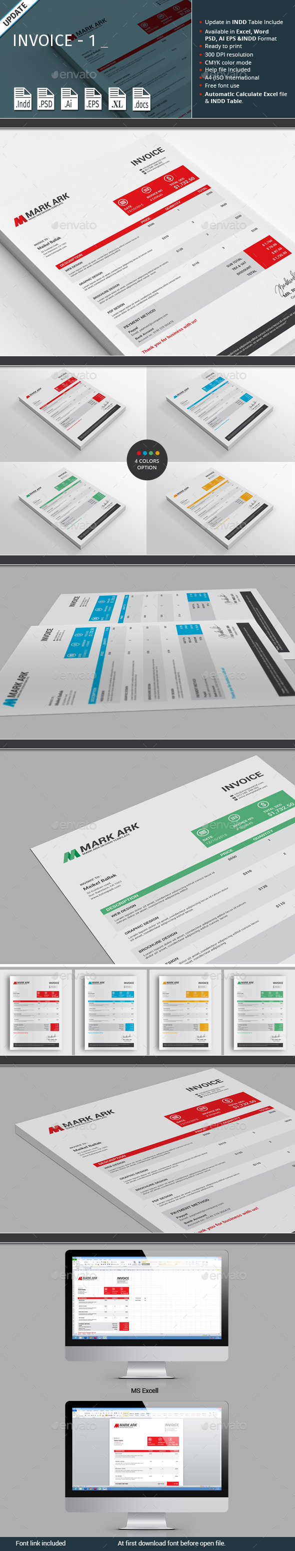 Invoice - 1 - Proposals & Invoices Stationery