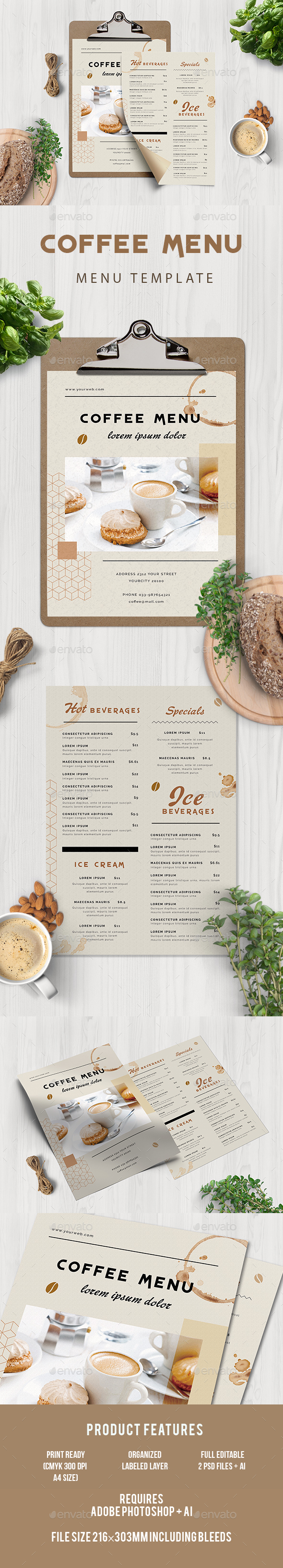 GraphicRiver Coffee Menu 20328418