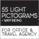 55 Light Pictogram and Wayfinding - GraphicRiver Item for Sale