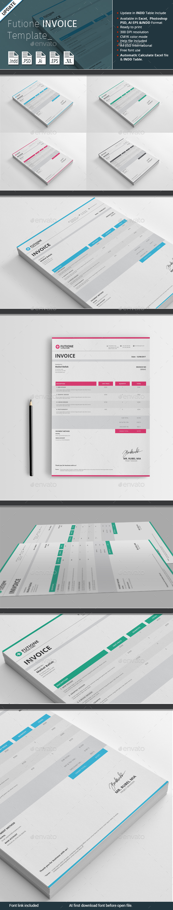 Futione Invoice Template - Proposals & Invoices Stationery
