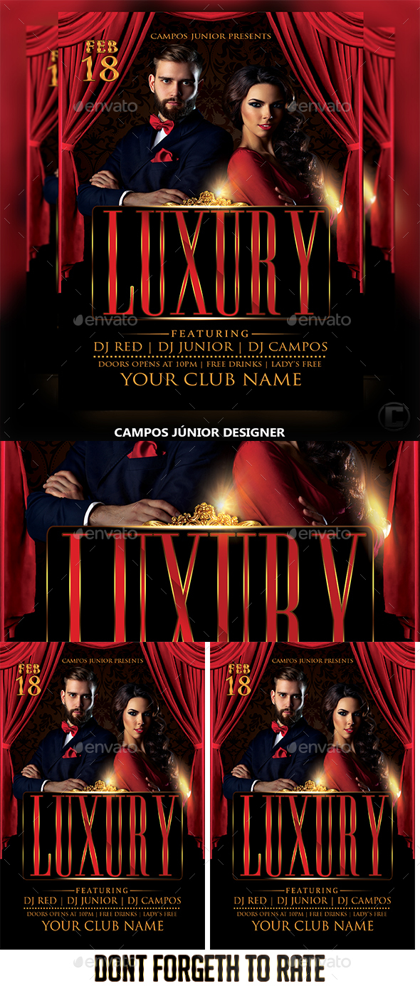 Luxury - Flyer Template - Events Flyers