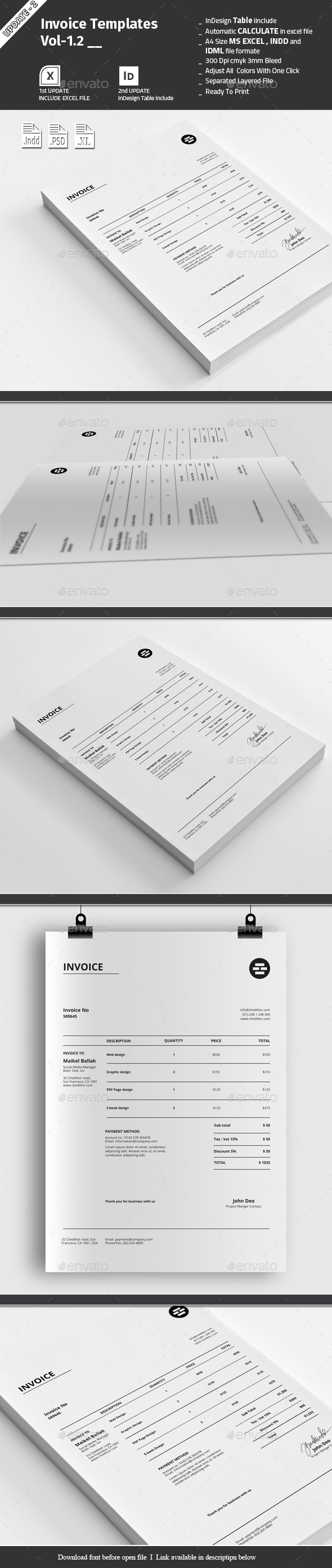 Invoice Templates Vol-1.2 - Proposals & Invoices Stationery