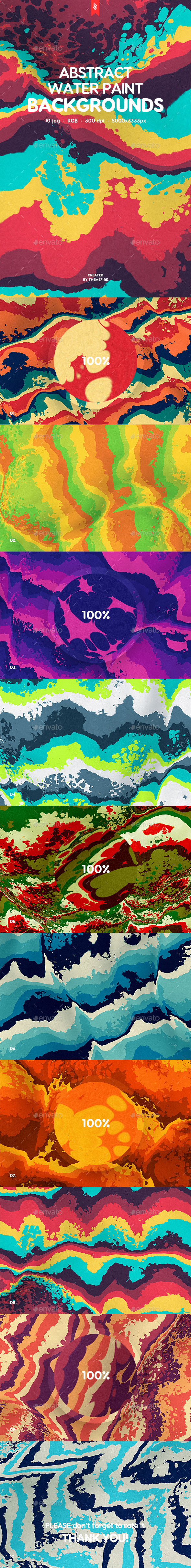 Abstract Water Paint Backgrounds - Abstract Backgrounds