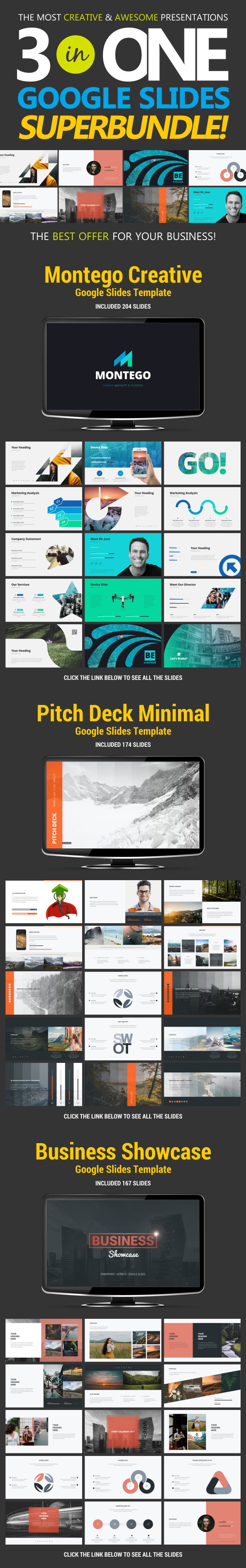 Business Bundle vol.2 - Google Slides Presentation Templates