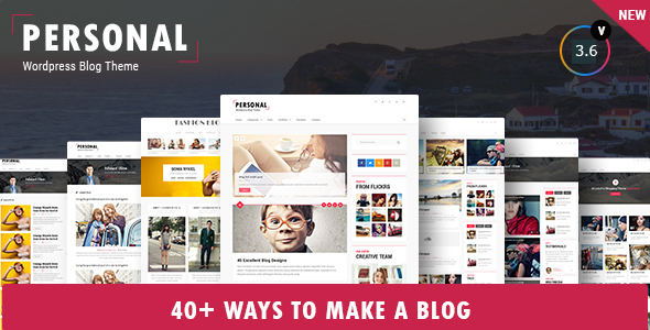 Personal - Best Blog, CV and Video WordPress Theme - Personal Blog / Magazine