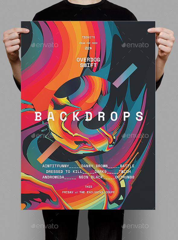 Backdrops Poster / Flyer - Clubs & Parties Events