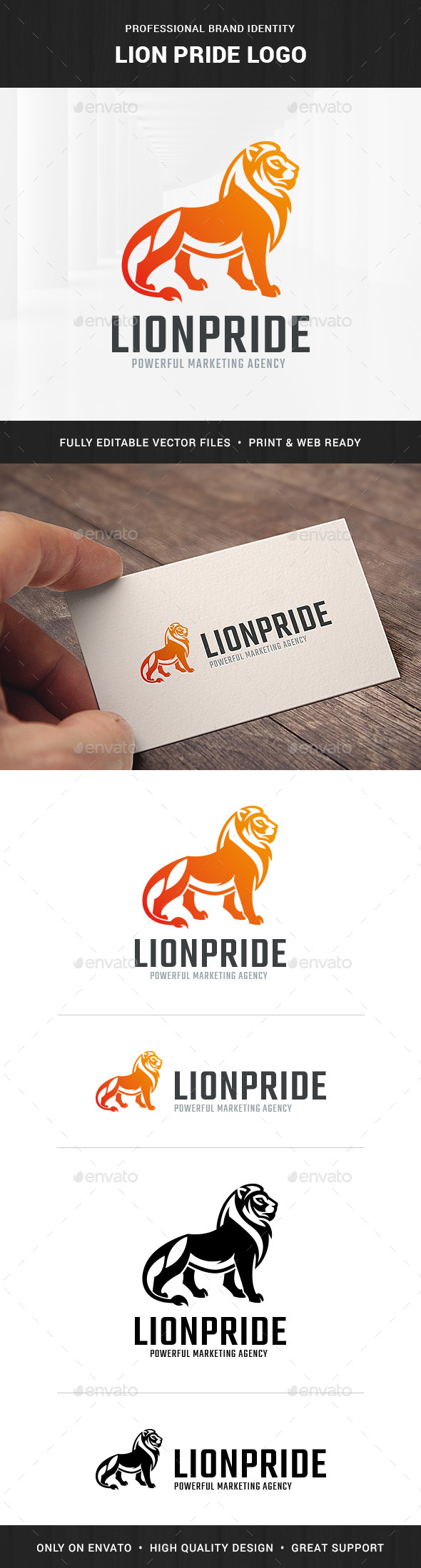 GraphicRiver Lion Pride Logo Template 20328747