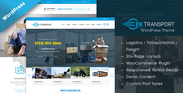 Image of Extransport - Freight, Logistics WordPress theme