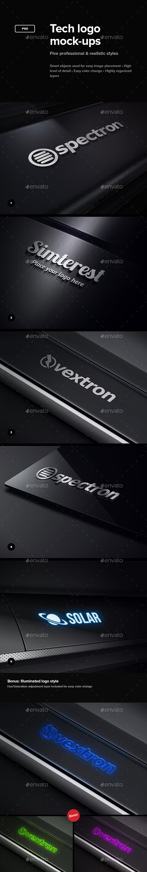 Tech Logo Mock-Ups - Logo Product Mock-Ups