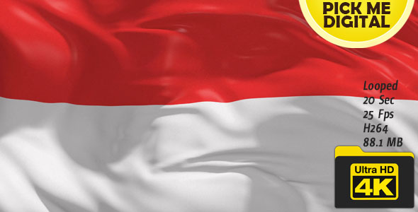 indonesia flag 4k by pickmedigital videohive