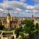 Aerial Germany-Schwerin Castle Schloss Schwerin on Island - VideoHive Item for Sale