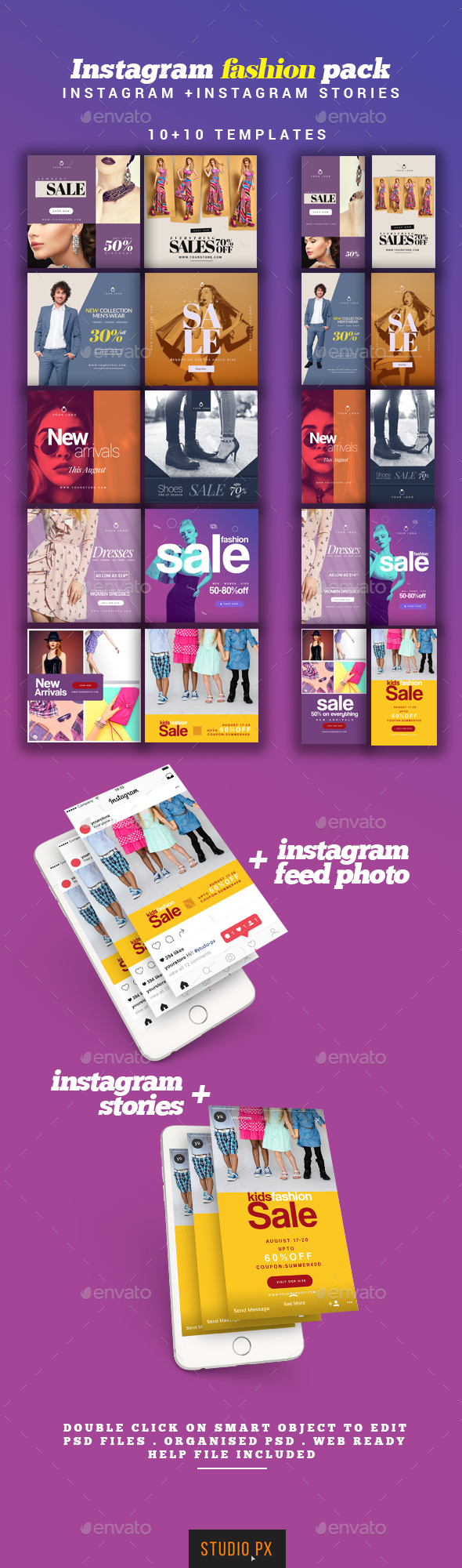 Instagram Fashion Pack Template - Miscellaneous Social Media